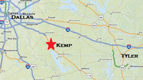 Where Is Kemp Texas On A Map